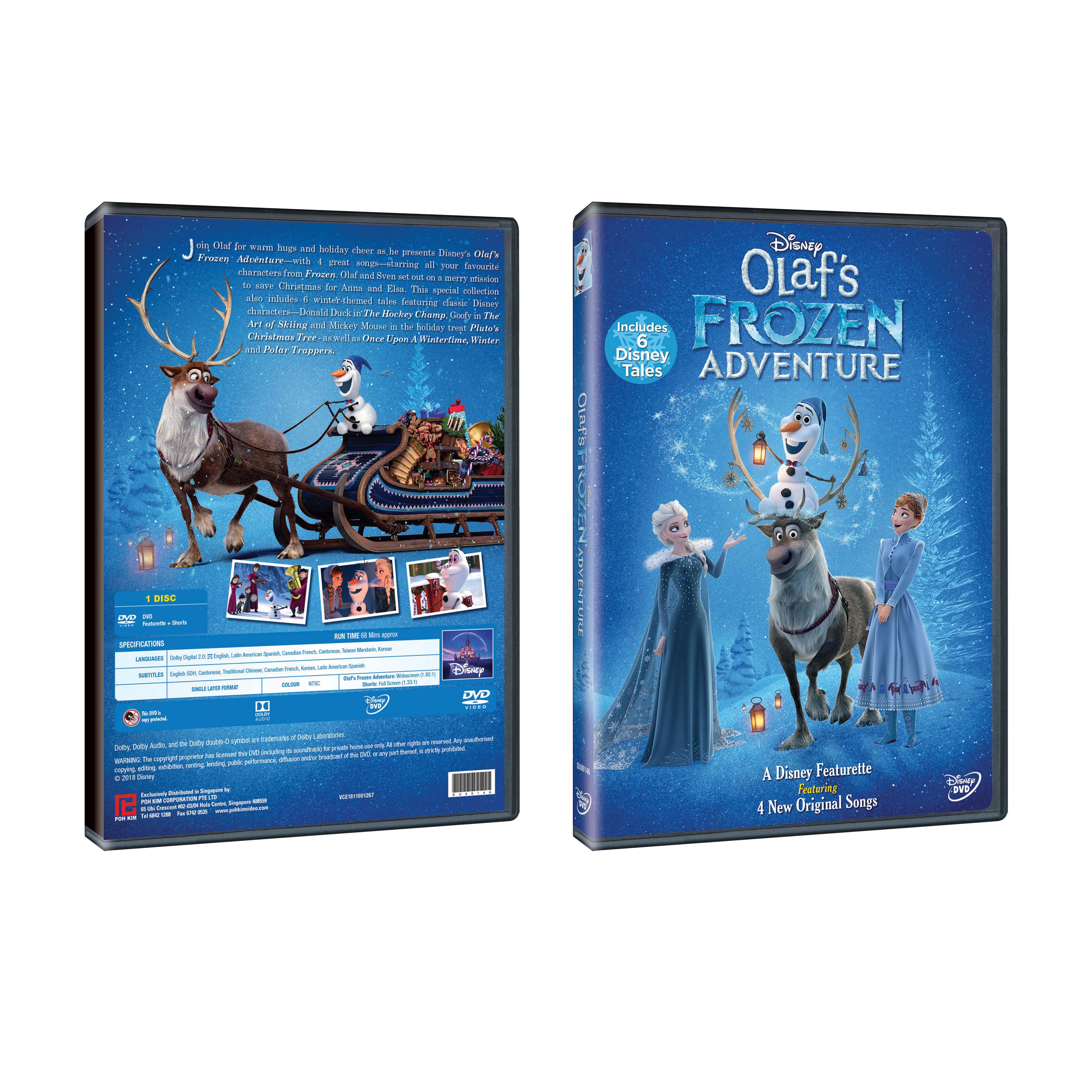 Olaf's Frozen Adventure Plus 6 Disney Tales (DVD)
